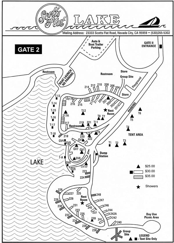 Rollins lake campground map related keywords rollins for Scotts flat lake fishing