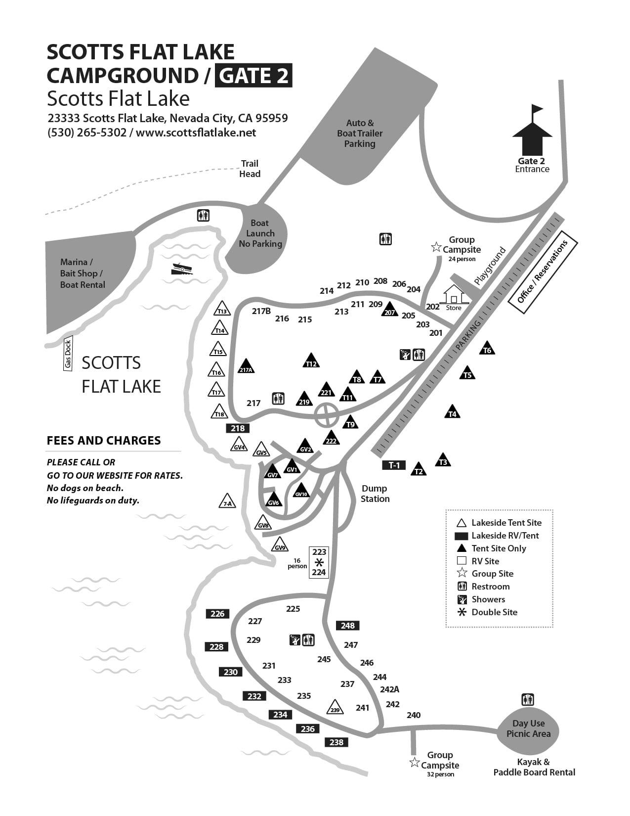 scotts flat lake map Scotts Flat Lake Campground Maps Nid Recreation scotts flat lake map